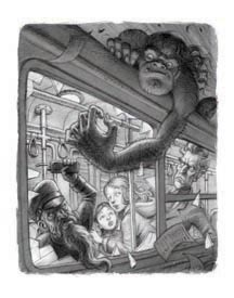 The Yahoos attack the Dwarves in the NYC subway - by Peter Ferguson